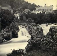 Pays De Galles Betws-y-Coed Depuis Pont Y Pair Anciennne Photo Stereo Bedford? 1865