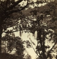 Pays De Galles Betws-y-Coed Swallow Falls Anciennne Photo Stereo Bedford? 1865