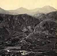 Pays De Galles Gwynant Vale Vallée Snowdon Anciennne Photo Stereo Bedford? 1865