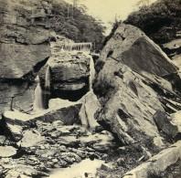 Pays De Galles Vallée De Neath Les Chutes Aberdulais Anciennne Photo Stereo Bedford? 1865