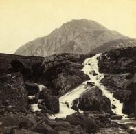 Pays De Galles Capel Curig Chutes De Ogwen Falls Anciennne Photo Stereo Bedford? 1865