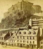 Royaume Uni Ecosse Edimbourg Le Château Black Bull Inn Anciennne Photo Stereo Burns 1865
