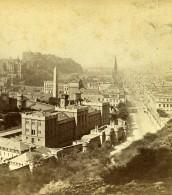 Royaume Uni Ecosse Edimbourg Vue De Calton Hill Anciennne Photo Stereo Burns 1865