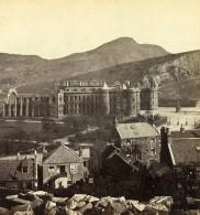 Royaume Uni Ecosse Edimbourg Holyrood Palace Anciennne Photo Stereo Burns 1865