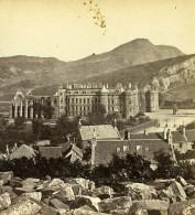 Royaume Uni Edimbourg Holyrood Palace Anciennne Photo Stereo Burns 1865