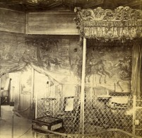 Ecosse Edimbourg Holyrood Palace Chambre De La Reine Mary Anciennne Photo Stereo 1865