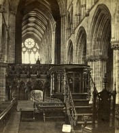 Royaume Uni Ecosse Glasgow Cathedrale Chaire Anciennne Photo Stereo Burns 1865