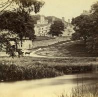 Royaume Uni Derbyshire Haddon Hall Anciennne Photo Stereo Petschler 1865