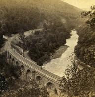 Royaume Uni Ecosse Perthshire Pass Of Killiecrankie Anciennne Photo Stereo Stuart 1865