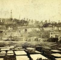 Royaume Uni Ecosse Glasgow Necropolis Anciennne Photo Stereo Macfarlane 1865 - Photos Stéréoscopiques