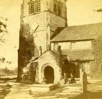 Royaume Uni Cheshire Alderley Old Church Vieille Eglise Anciennne Photo Stereo Petschler 1865 - Stereoscopic
