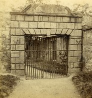 Royaume Uni Ecosse Edimbourg Portail En Fer De La Prison Anciennne Photo Stereo Gordon 1865