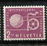 Switzerland 1956 2fr International Labor Union Issue #3O102  MNH - Zwitserland
