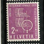 Switzerland 1958 2fr Telecommunications Issue #10O1 - Zwitserland