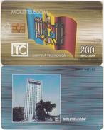 MOLDOVA - Flag, Telecom Building, Moldtelecom Telecard 200 Units, 01/00, Used