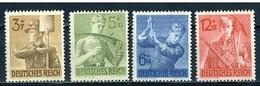 LOTE 1264  ///  (C070) ALEMANIA IMPERIO 1942  MICHEL Nº: 850/853  NUEVOS SIN GOMA - Alemania