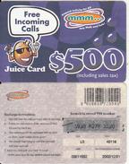 ZIMBABWE - Juice Card, Mango Recharge Card $500, Exp.date 01/12/02, Used - Zimbabwe