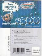 ZIMBABWE - Juice Card, Mango Recharge Card $500, Exp.date 03/09/00, Used - Zimbabwe