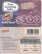 ZIMBABWE - Juice Card, Mango Recharge Card $300, Exp.date 05/02/04, Used - Zimbabwe