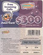 ZIMBABWE - Juice Card, Mango Recharge Card $300, Exp.date 14/02/03, Used - Zimbabwe