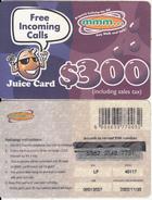 ZIMBABWE - Juice Card, Mango Recharge Card $300, Exp.date 30/11/02, Used - Zimbabwe