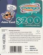 ZIMBABWE - Juice Card, Mango Recharge Card $200, Exp.date 09/04/02, Used - Zimbabwe