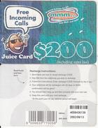 ZIMBABWE - Juice Card, Mango Recharge Card $200, Exp.date 13/09/02, Used - Zimbabwe