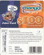 ZIMBABWE - Juice Card, Mango Recharge Card $100, Exp.date 31/05/03, Used - Zimbabwe