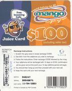 ZIMBABWE - Juice Card, Mango Recharge Card $100, Exp.date 11/04/03, Used - Zimbabwe