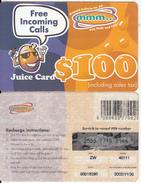 ZIMBABWE - Juice Card, Mango Recharge Card $100, Exp.date 30/11/02, Used - Zimbabwe