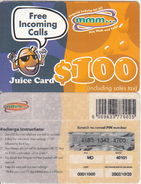 ZIMBABWE - Juice Card, Mango Recharge Card $100, Exp.date 20/10/02, Used - Zimbabwe
