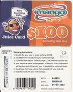 ZIMBABWE - Juice Card, Mango Recharge Card $100, Exp.date 24/07/02, Used - Zimbabwe
