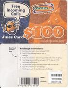 ZIMBABWE - Juice Card, Mango Recharge Card $100, Exp.date 18/11/01, Used - Zimbabwe