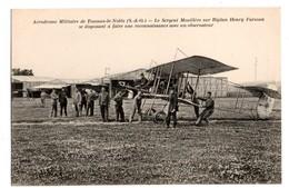 AVION . Aérodrome Militaire De Toussus-le-Noble . Le Sergent Mouillère Sur Biplan Henry Farman Se... - Réf. N°1678 - - 1914-1918: 1. Weltkrieg