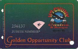 Ho-Chunk Casino & Bingo - Baraboo, WI - 5th Issue Slot Card - 1-800-7HO-CHUNK Phone# - Senior Card (* After Name) - Casino Cards