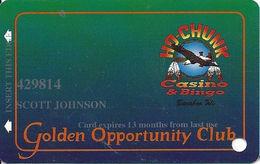 Ho-Chunk Casino & Bingo - Baraboo, WI - 5th Issue Slot Card - 1-800-7HO-CHUNK Phone# - Expires 13 Months - Casino Cards