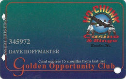 Ho-Chunk Casino & Bingo - Baraboo, WI - 7th Issue Slot Card - 1-800-746-2486 Phone# - Casino Cards