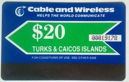Turks And Caicos Phonecard US$20 Autelca Mint