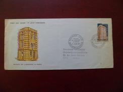 Premier Jour Circulé Vers Lyon De Andorre La Vieille Le 5/06/1965 Du  N° 174 Maison De L'Andorre à Paris B/TB - Cartas