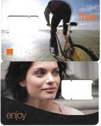 @+ Lot De 2 Cartes SIM / GSM Sans Puce ISRAEL - Israel
