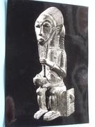Statuette De Roi TRIBU - BAULE ( H. 420 Mm. ) Anno 19?? ( Zie Foto's ) ! - Côte-d'Ivoire