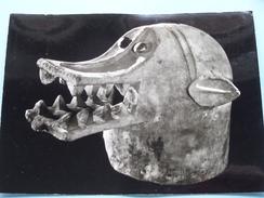 Masque-Cloche En Bois TRIBU - SENUFO ( H. 279 Mm./ L. 427 Mm. ) Anno 19?? ( Zie Foto's ) ! - Côte-d'Ivoire