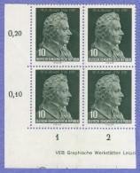 DDR SC #278-9 MNH B4 1956 Wolfgang Amadeus Mozart CV $48.00 (I) - Unused Stamps
