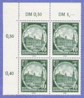 DDR SC #291-3 (set/3) MNH B4 1956 Dresden / 750th Anniv.  CV $7.80 (I) - [6] Democratic Republic