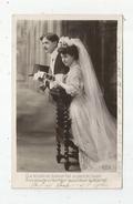 Cp , Couple , Mariage, Mariée ,marié ,  ,le Contrat D'amour , écrite - Couples