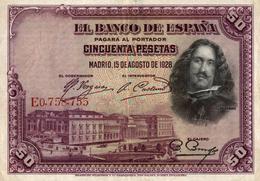 EL BANCO DE ESPANA  CINCUENTA PESETAS - 50 Pesetas