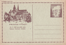 Entier Postal De Tchecoslovaquie (Ceskoslovensko)  - Pravda Vitazi! - Postcards