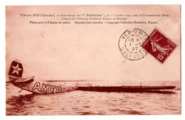 """AVION . VER-SUR-MER . Amerissage De L' """" América """", Le 1er Juillet 1927 - Réf. N°1683 - - 1919-1938"""