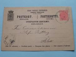 Postkort Finland - Postkortti Suomi ( ABO ) Anno 1891 ( Zie/voir Foto Voor Details ) !! - Finland