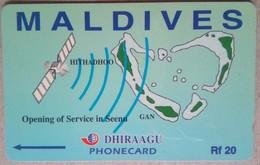 Maldives Phonecard Rf 20 7MLDA Mint - Maldives